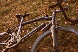 Eric's bike, split in two.